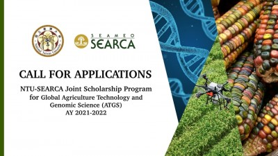 Call for Applications: The NTU-SEARCA Joint Scholarship Program for Global Agriculture Technology and Genomic Science (Global ATGS)
