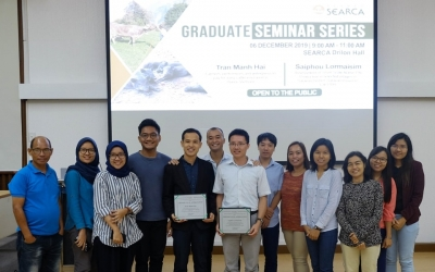 Graduating scholars present their study at the SEARCA Graduate Seminar Series
