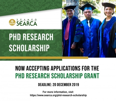 SEARCA PhD Research Scholarship applications now open