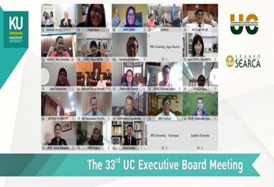 Kasetsart University successfully hosts the 33rd UC Executive Board Meeting virtually
