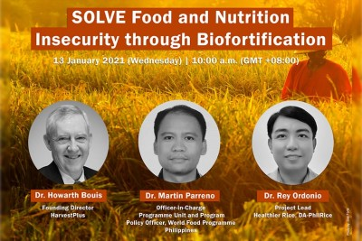 SEARCA webinar tackles prospects of biofortification to address food and nutrition insecurity