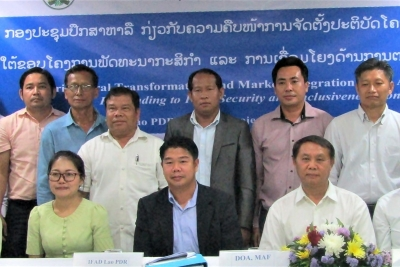 Lao PDR component of ATMI-ASEAN tackles preliminary findings of maize value chain study