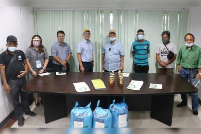 SEARCA presents programs to new Los Baños mayor, donates 3 rice varieties to local farmers